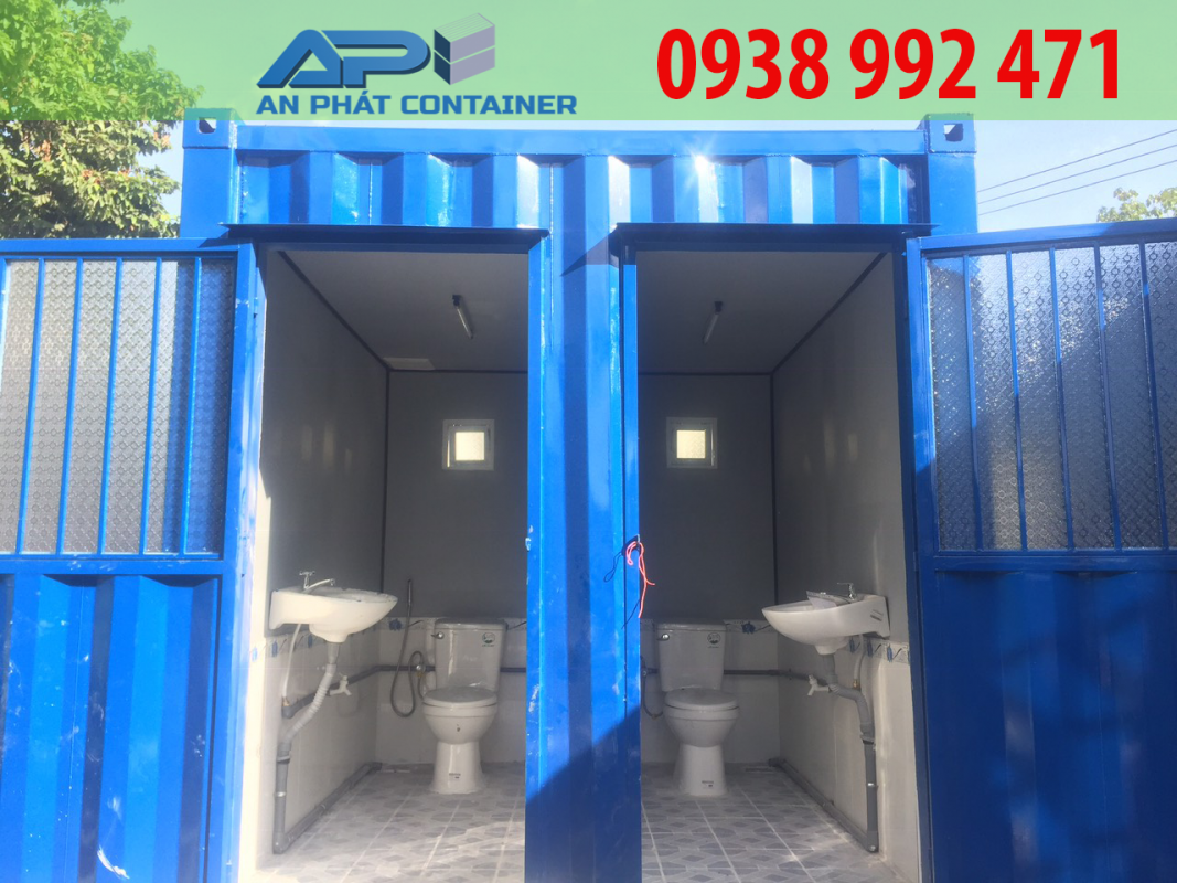 Container văn phòng 10 feet toilet