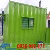 container van phong 10 feet xanh